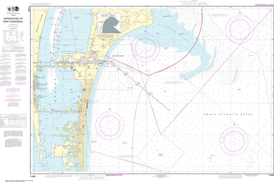 NOAA Chart 11481: Approaches to Port Canaveral