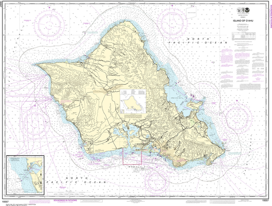 NOAA Chart 19357: Island of O'ahu, Barbers Point Harbor