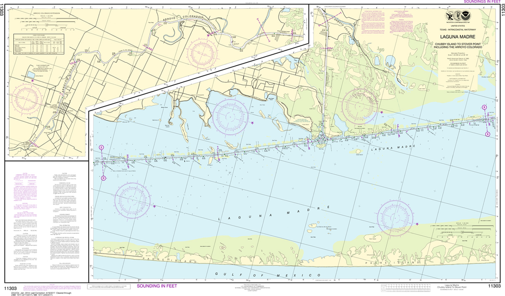 NOAA Chart 11303: Intracoastal Waterway - Laguna Madre, Chubby Island to Stover Point, including The Arroyo Colorado