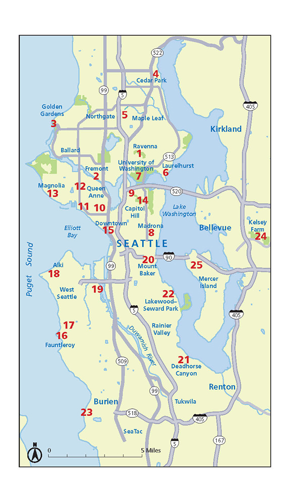 Seattle Stairway Walks An UpandDown Guide To City Neighborhoods - Seattle map neighborhood guide
