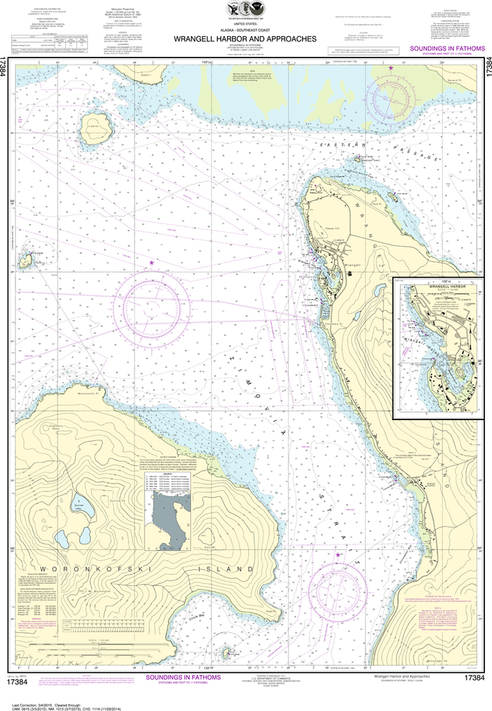 NOAA Chart 17384: Wrangell Harbor and Approaches, Wrangell Harbor