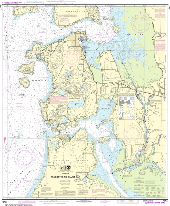 NOAA Chart 18427: Anacortes to Skagit Bay