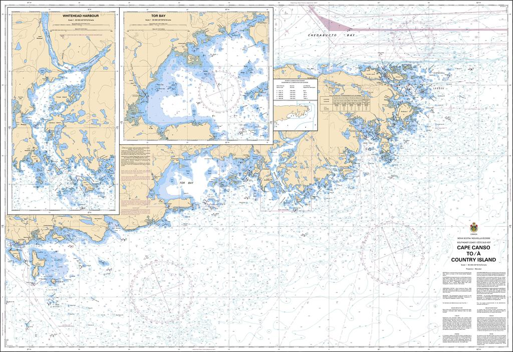 CHS Chart 4233: Cape Canso to / à Country Island