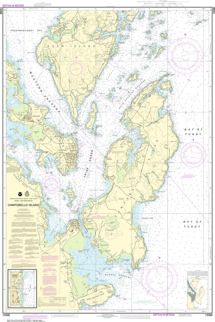 NOAA Chart 13396: Campobello Island, Eastport Harbor