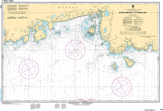 CHS Print-on-Demand Charts Canadian Waters-4470: Blanc Sablon €/to Middle Bay, CHS POD Chart-CHS4470