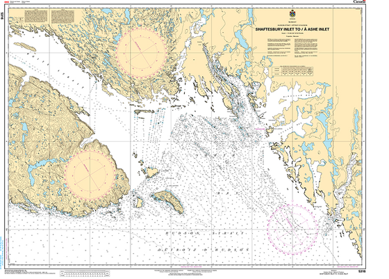 CHS Print-on-Demand Charts Canadian Waters-5316: Shaftesbury Inlet to/€ Ashe Inlet, CHS POD Chart-CHS5316