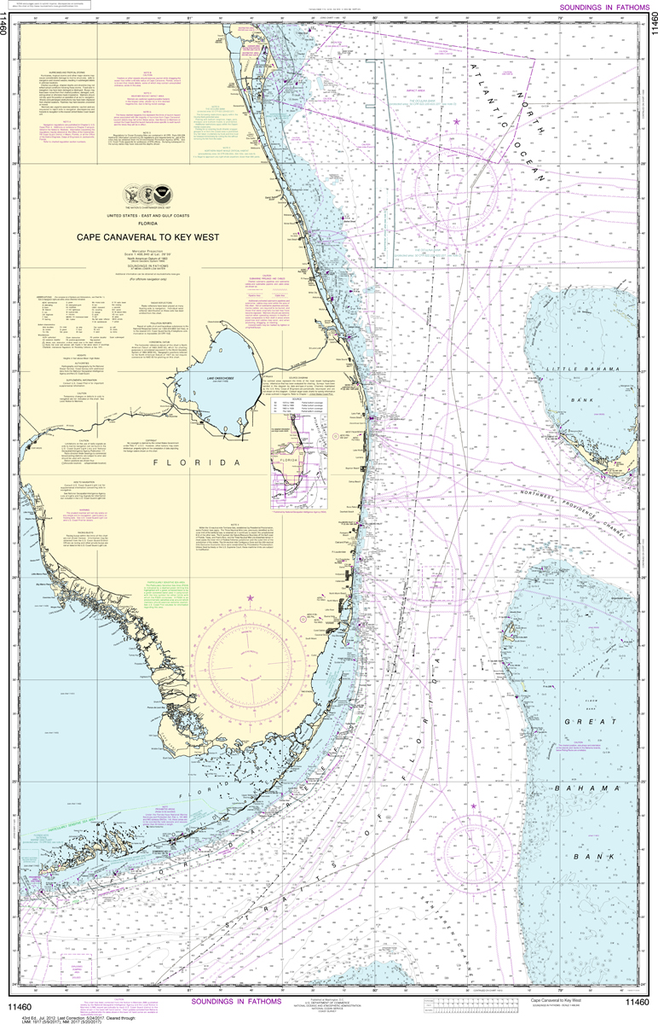Noaa Chart 11460 Cape Canaveral To Key West Captain S Supplies