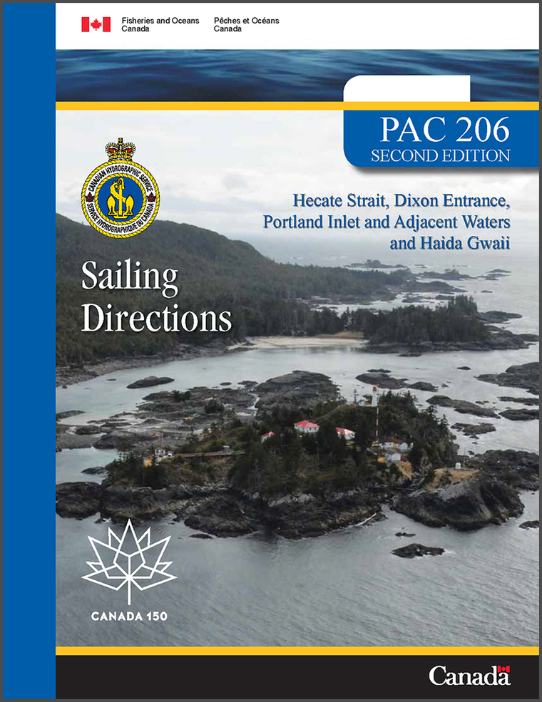 Sailing Directions PAC206E: Hecate Strait, Dixon Entrance, Portland Inlet and Adjacent Waters and Haida Gwaii