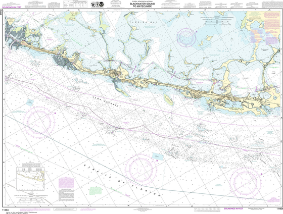 NOAA Chart 11464: Intracoastal Waterway - Blackwater Sound To Matecumbe