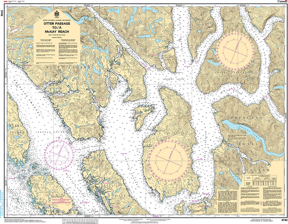CHS Print-on-Demand Charts Canadian Waters-3742: Otter Passage to/€ McKay Reach, CHS POD Chart-CHS3742
