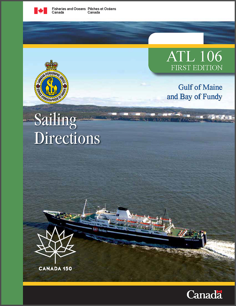 Sailing Directions ATL106E: Gulf of Maine and Bay of Fundy