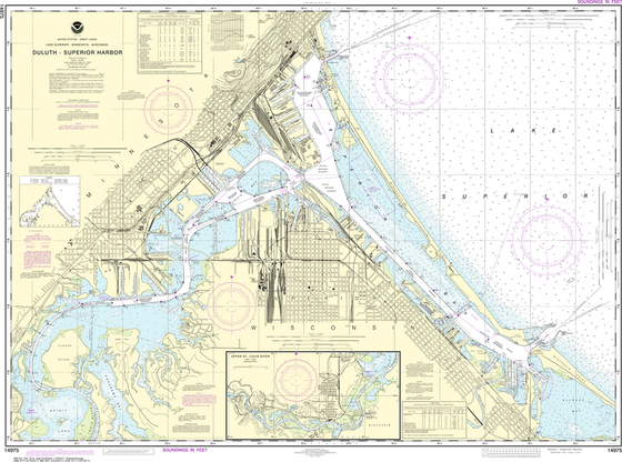 NOAA Chart 14975: Duluth - Superior Harbor, Upper St. Louis River