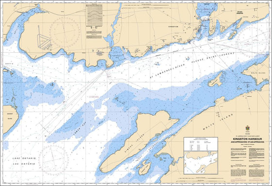 CHS Chart 2017: Kingston Harbour and Approaches/et les approches