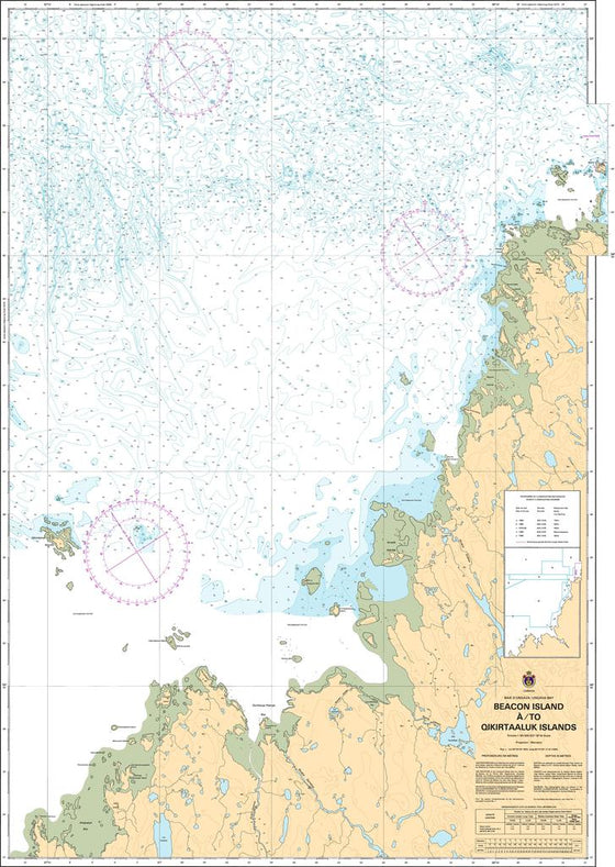 CHS Chart 5374: Beacon Island à/to Qikirtaaluk Islands