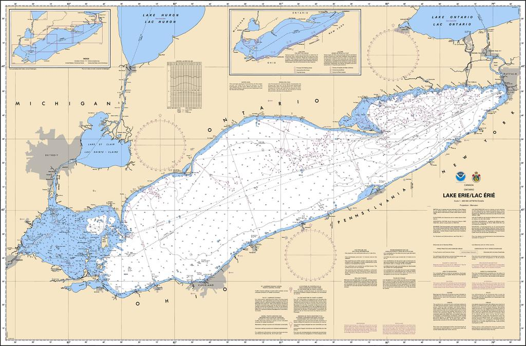 Picture of: Chs Chart 2100 Lake Erie Lac Erie Captain S Supplies