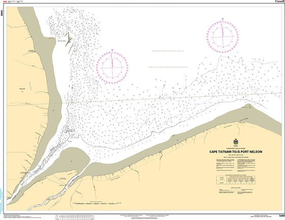 CHS Print-on-Demand Charts Canadian Waters-5406: Cape Tatnam to/€ Port Nelson, CHS POD Chart-CHS5406