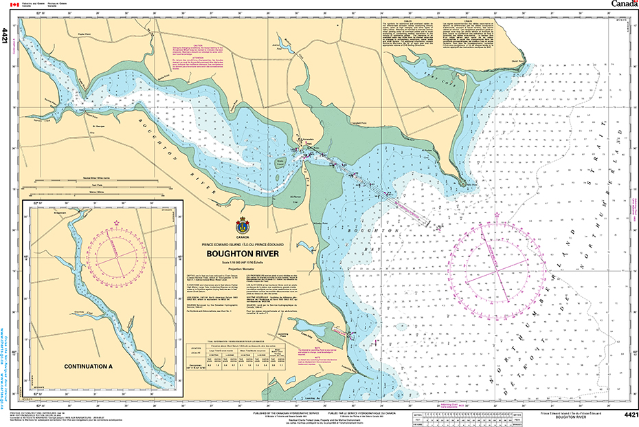 CHS Print-on-Demand Charts Canadian Waters-4421: Boughton River, CHS POD Chart-CHS4421