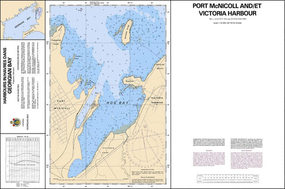 CHS Chart 2223: Port McNicoll and/et Victoria Harbour