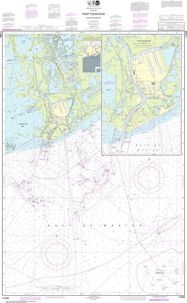 NOAA Chart 11346: Port Fourchon and Approaches