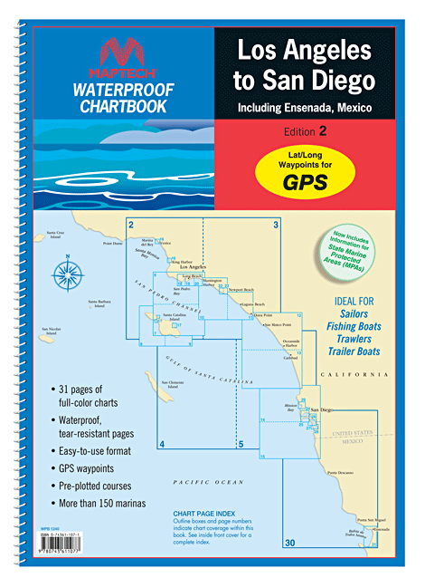 Captain's-Nautical-Supplies-Maptech-Waterproof-Chartbook-Los-Angeles-San-Diego-P1