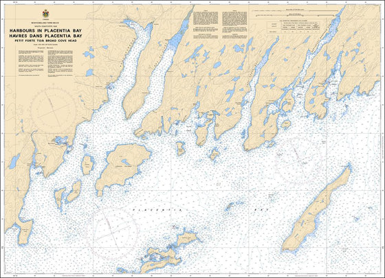 CHS Chart 4615: Harbours in Placentia Bay / Havres dans Placentia Bay: Petit forte to / à Broad Cove Head