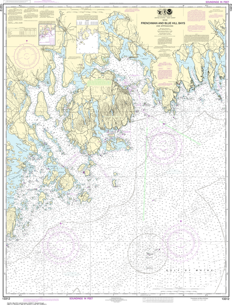 NOAA Chart 13312: Frenchman and Blue Hill Bays and Approaches