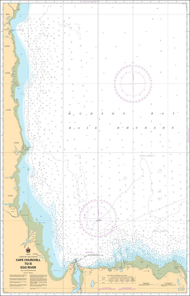 CHS Chart 5400: Cape Churchill to/à Egg River