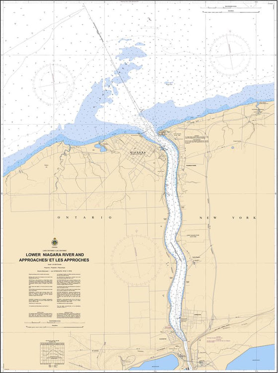 CHS Chart 2043: LOWER NIAGARA RIVER AND APPROACHES / ET LES APPROCHES