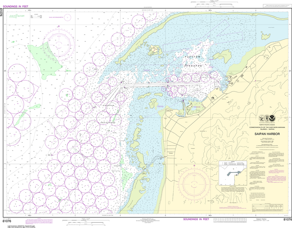 NOAA Chart 81076: Commonwealth of the Northern Mariana Islands - Saipan Harbor