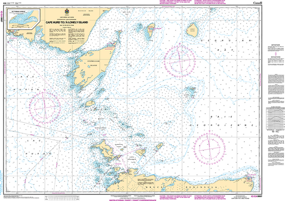 CHS Print-on-Demand Charts Canadian Waters-9997IC: St. Michael Bay to / aux Gray Islands, CHS POD Chart-CHS9997IC