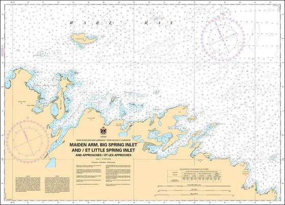 CHS Chart 4519: Maiden Arm, Big Spring Inlet and / et Little Spring Inlet and approaches / et les approches