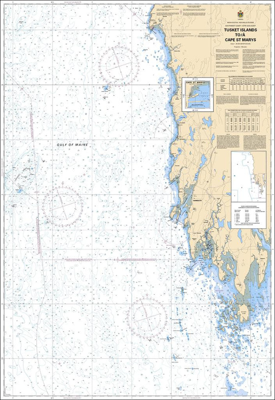 CHS Chart 4243: Tusket Islands to / à Cape St Marys