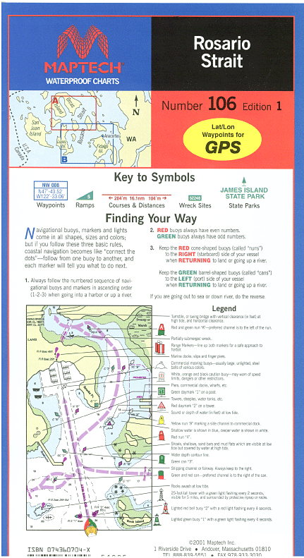 Captain's-Nautical-Supplies-Maptech-Waterproof-Chart-Rosario-Strait