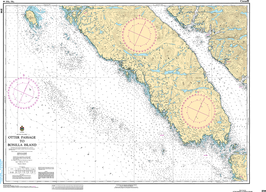 CHS Print-on-Demand Charts Canadian Waters-3741: Otter Passage to Bonilla Island, CHS POD Chart-CHS3741
