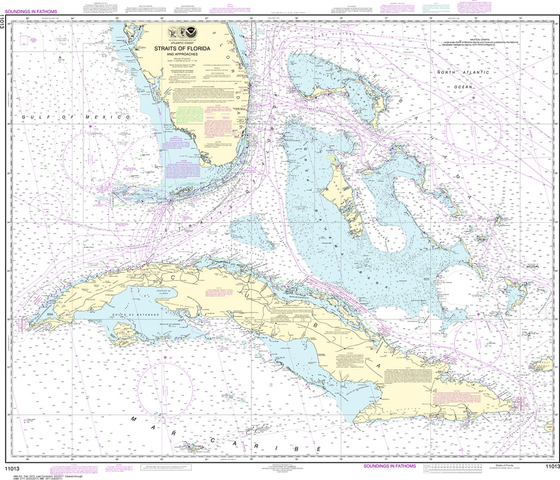 NOAA Chart 11013: Straits of Florida and Approaches