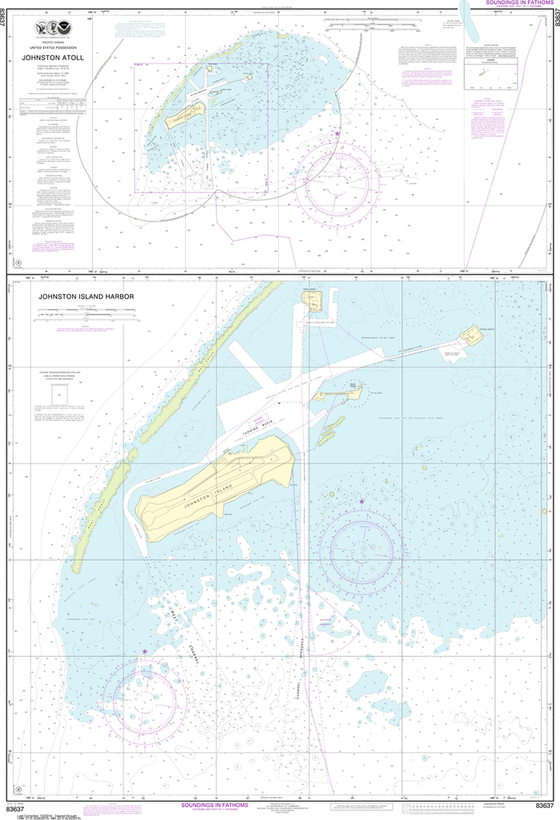 NOAA Chart 83637: Johnston Atoll, Johnston Island Harbor