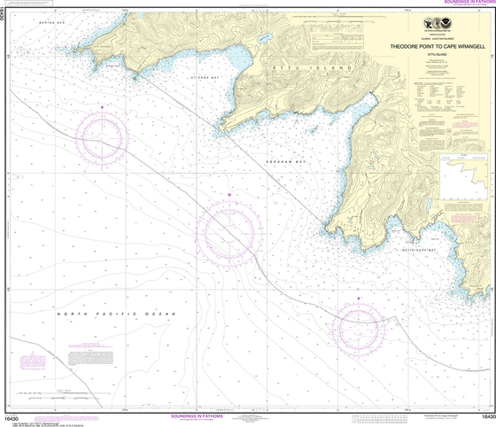 NOAA Chart 16430: Attu Island - Theodore Point to Cape Wrangell
