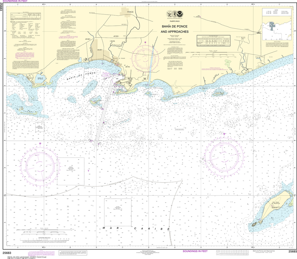 NOAA Chart 25683: Bahia de Ponce and Approaches
