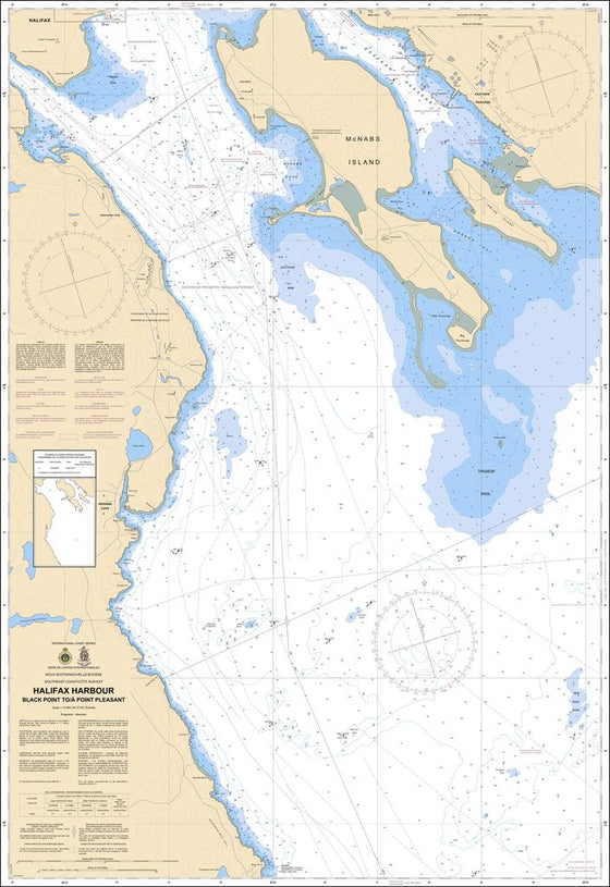 CHS Chart 4203: Halifax Harbour: Black Point to / à Point Pleasant