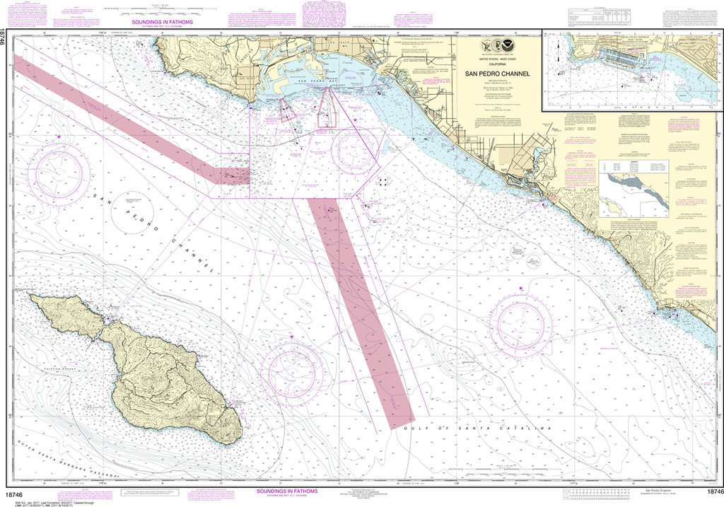 NOAA Chart 18746: San Pedro Channel, Dana Point Harbor