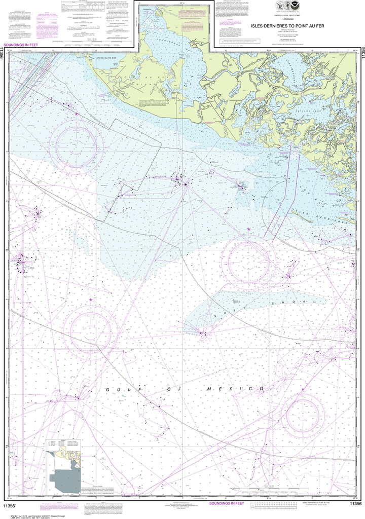NOAA Chart 11356: Isles Dernieres to Point au Fer