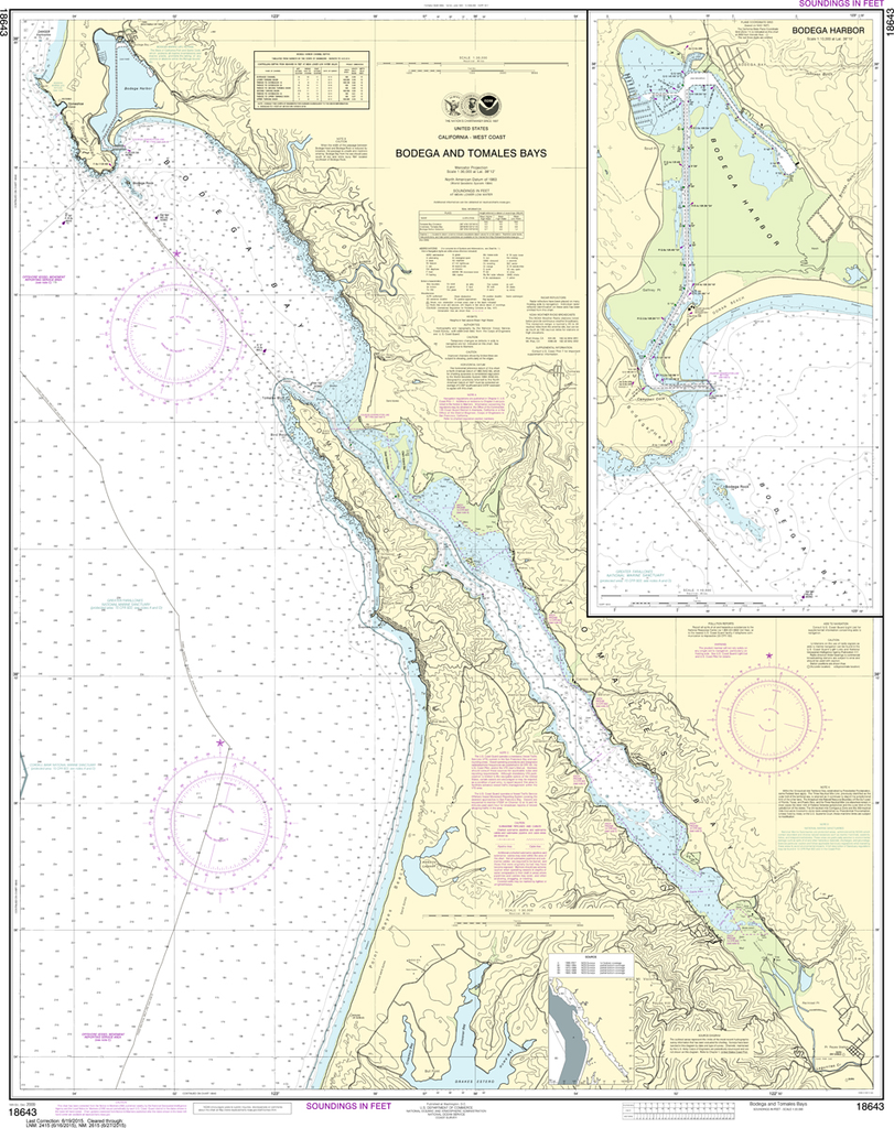NOAA Chart 18643: Bodega and Tomales Bays, Bodega Harbor