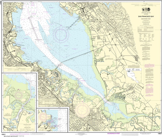 NOAA Chart 18651: San Francisco Bay - Southern Part, Redwood Creek, Oyster Point