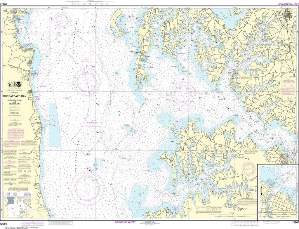 NOAA Chart 12266: Chesapeake Bay - Choptank River and Herring Bay, Cambridge