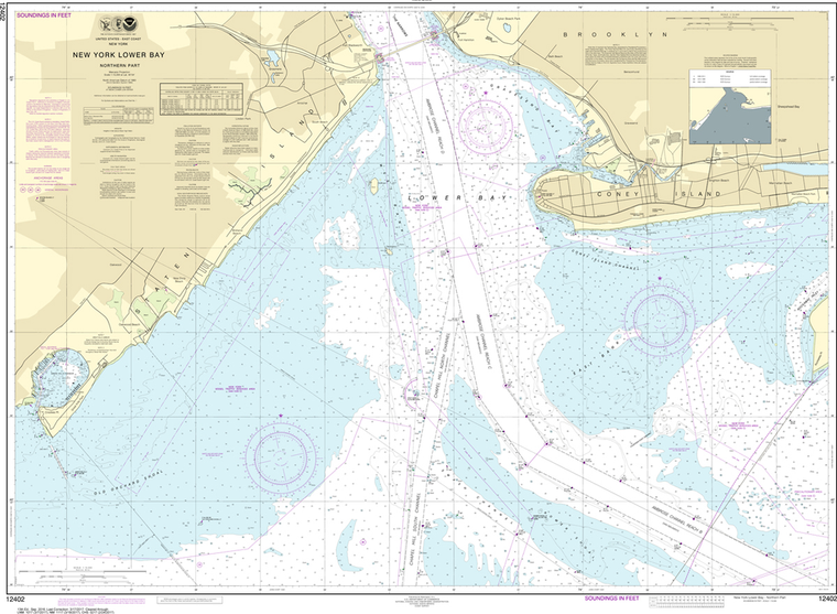 NOAA Chart 12402: New York Lower Bay - Northern Part