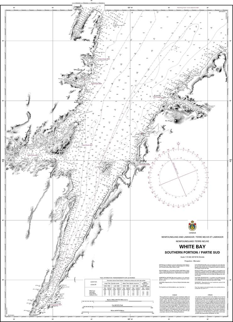 CHS Chart 4584: White Bay: Southern Part / Partie Sud