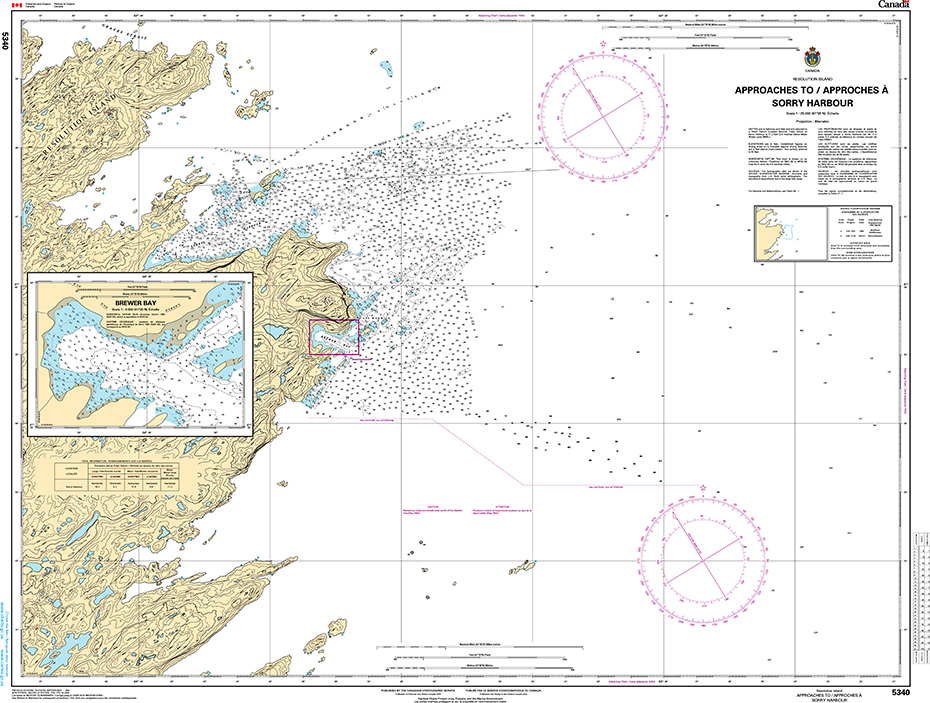 CHS Print-on-Demand Charts Canadian Waters-5340: Approach to/ Approches € Sorry Harbor, CHS POD Chart-CHS5340