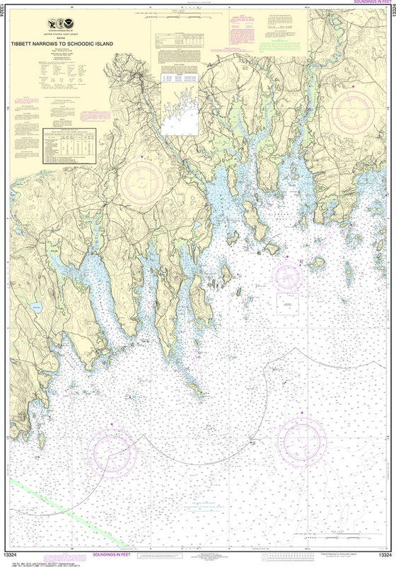 NOAA Chart 13324: Tibbett Narrows to Schoodic Island