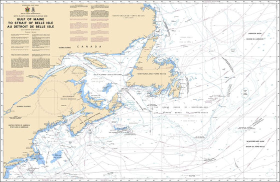 CHS Chart 4001: Gulf of Maine to Strait of Belle Isle / au Detroit de Belle Isle
