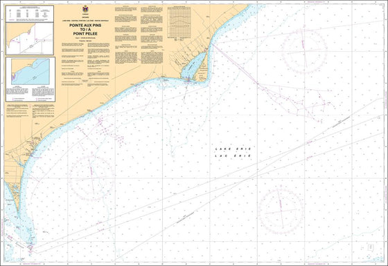 CHS Chart 2122: Pointe aux Pins to/à Point Pelee